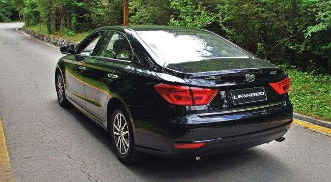 Оголошена ціна на новий бізнес-седан Lifan 820 в Росії