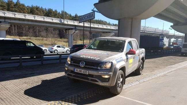 Від Дакара до Москви за 3 дня: на трехлитровом Volkswagen Amarok встановили новий рекорд світу