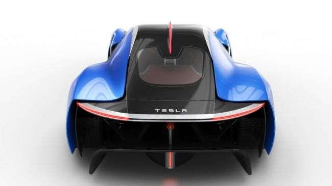 Іспанський дизайнер показав перший гіперкар Tesla Model EXP