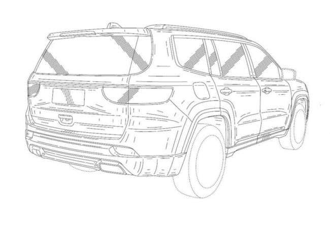 Патентні зображення розсекретили позашляховик Jeep Grand Wagoneer