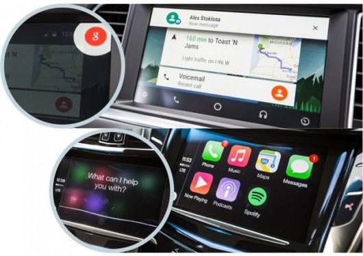 Apple CarPlay проти Google Android Auto