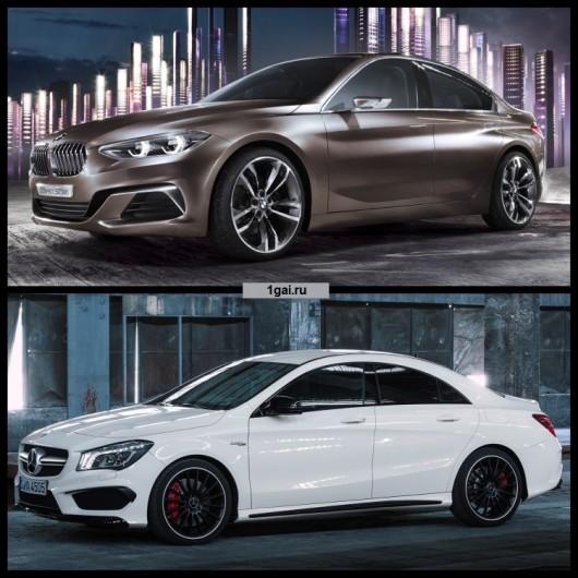 Порівняння Mercedes CLA проти BMW 1-Series в кузові седан